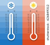 thermometer equipment showing... | Shutterstock .eps vector #626849312