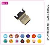 camera lens icon | Shutterstock .eps vector #626858522