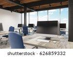 office interior with metal... | Shutterstock . vector #626859332
