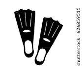 hand drawn textured diving fins ... | Shutterstock .eps vector #626859515