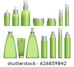 realistic green cosmetics... | Shutterstock .eps vector #626859842