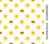 seamless pattern with sun icons | Shutterstock .eps vector #626860082