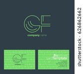 g f letters logo with business...   Shutterstock .eps vector #626862662