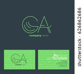 g a letters logo with business...   Shutterstock .eps vector #626862686