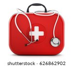 stethoscope standing on first... | Shutterstock . vector #626862902