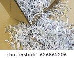 shredded documents | Shutterstock . vector #626865206