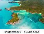 aerial view of the whitsunday...   Shutterstock . vector #626865266