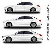 realistic car. sedan. set | Shutterstock .eps vector #626868242