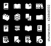 vector white book icons set on...   Shutterstock .eps vector #626868332