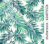 tropical pattern with exotic... | Shutterstock . vector #626870126