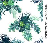 tropical background with jungle ... | Shutterstock . vector #626870186