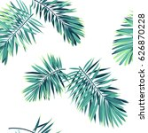 tropical pattern with exotic... | Shutterstock . vector #626870228