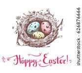 vector hand drawn card. happy...   Shutterstock .eps vector #626876666