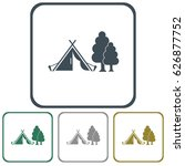 stylized icon of tourist tent.... | Shutterstock .eps vector #626877752