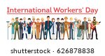 International worker's day. People with different jobs as plumber, doctor and more. White background. - stock vector