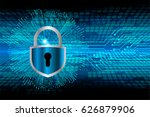 safety concept  closed padlock...   Shutterstock .eps vector #626879906
