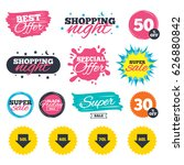 sale shopping banners. special... | Shutterstock .eps vector #626880842