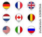 flags set in shape of map... | Shutterstock .eps vector #626882666