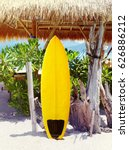 surfboard on the beach | Shutterstock . vector #626886212