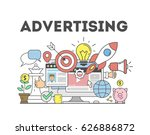 advertising concept... | Shutterstock .eps vector #626886872