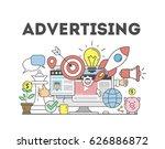 advertising concept... | Shutterstock .eps vector #626886872