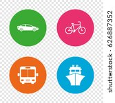 transport icons. car  bicycle ... | Shutterstock .eps vector #626887352