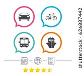 transport icons. car  bicycle ... | Shutterstock .eps vector #626887442