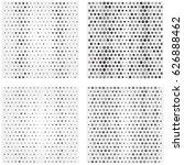 geometric monochrome pattern... | Shutterstock .eps vector #626888462