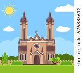 church icon. vector... | Shutterstock .eps vector #626888612