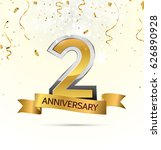 2 years anniversary celebration ... | Shutterstock .eps vector #626890928