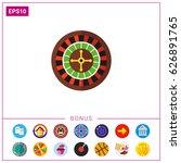 casino roulette icon | Shutterstock .eps vector #626891765