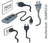 vector set of plugs | Shutterstock .eps vector #626892212