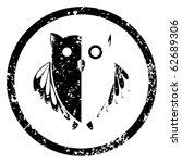 owl stamp  abstract art... | Shutterstock . vector #62689306