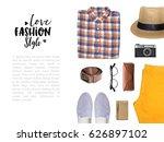 fashion blogger concept.... | Shutterstock . vector #626897102