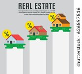 real estate infographic element ... | Shutterstock .eps vector #626897816