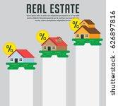 real estate infographic element ... | Shutterstock .eps vector #626897816