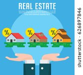 real estate infographic element ... | Shutterstock .eps vector #626897846