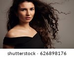 beauty woman's portrait with... | Shutterstock . vector #626898176