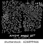 vector hand drawn arrows set... | Shutterstock .eps vector #626899466
