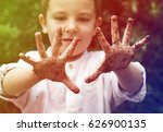 cute little boy playing and get ... | Shutterstock . vector #626900135