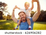 happy young father with son in... | Shutterstock . vector #626906282