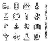 chemistry icons set. set of 16... | Shutterstock .eps vector #626908052