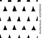 hand drawn ink black triangles... | Shutterstock .eps vector #626908442