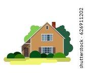 house. sweet home. illustration ... | Shutterstock .eps vector #626911202