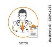 medical concept with doctor and ... | Shutterstock .eps vector #626916056