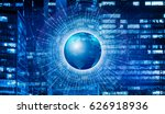 concept of big data around... | Shutterstock . vector #626918936