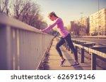beautiful blonde woman... | Shutterstock . vector #626919146
