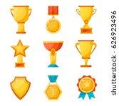 reward  medal  sports cups. a... | Shutterstock .eps vector #626923496