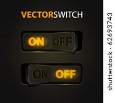 cool realistic toggle switch ... | Shutterstock .eps vector #62693743