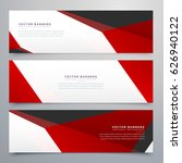 red and white geometric banners ... | Shutterstock .eps vector #626940122